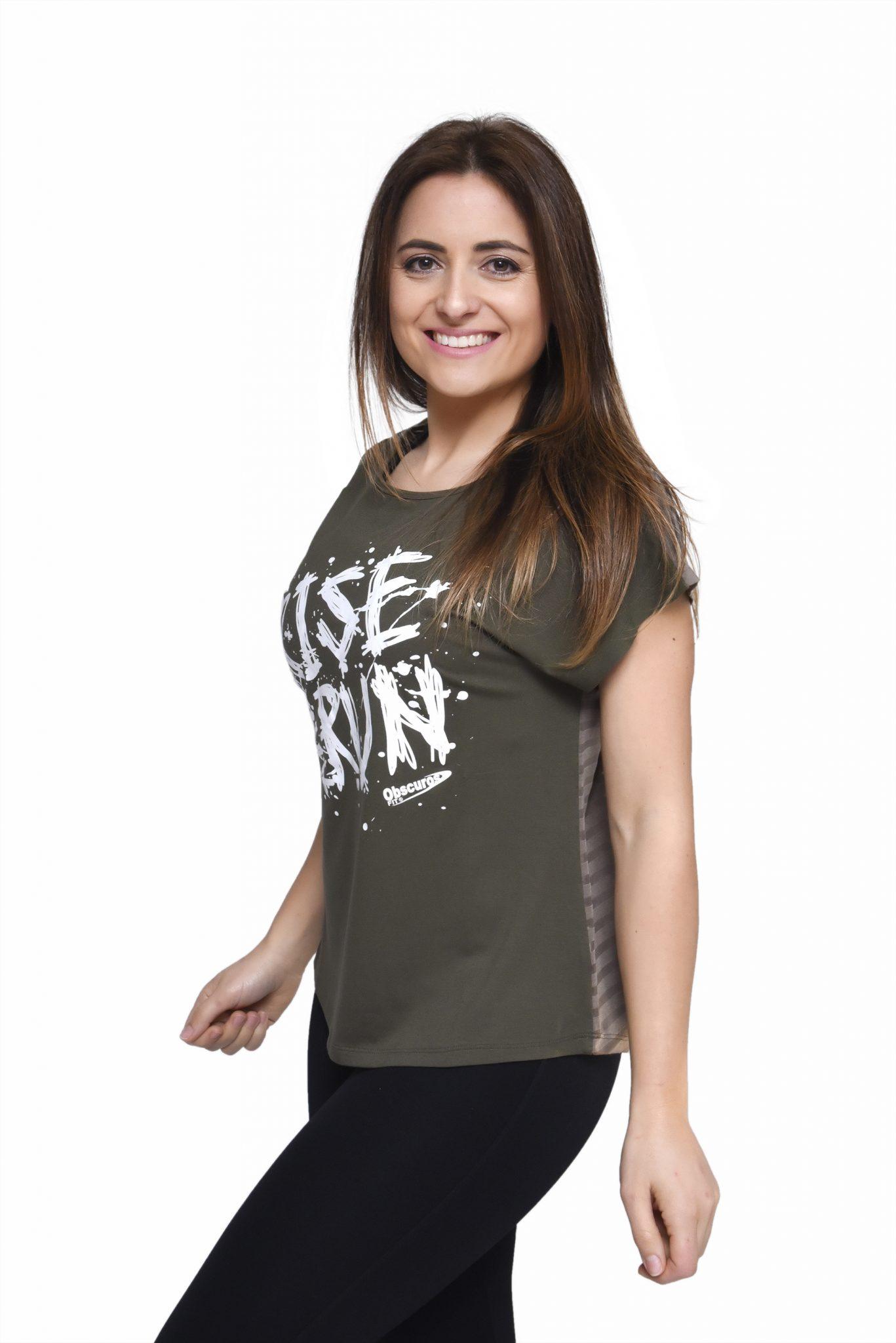T-Shirt com padrão listado nas costas Gabrines